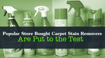 Popular Store Bought Carpet Stain Removers Are Put to the Test