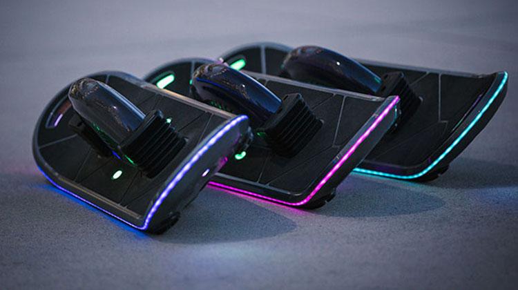 hoverboard lights up